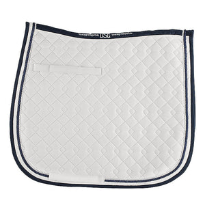 USG All Purpose Saddle Pad,  White & Navy