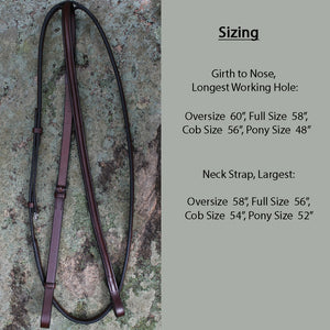 Red Barn Plain Round Raised Standing Martingale