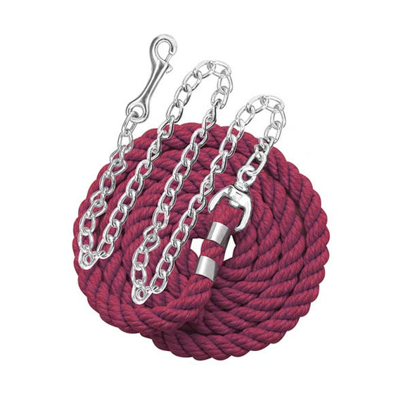 6' Solid Color Cotton Lead with Chain