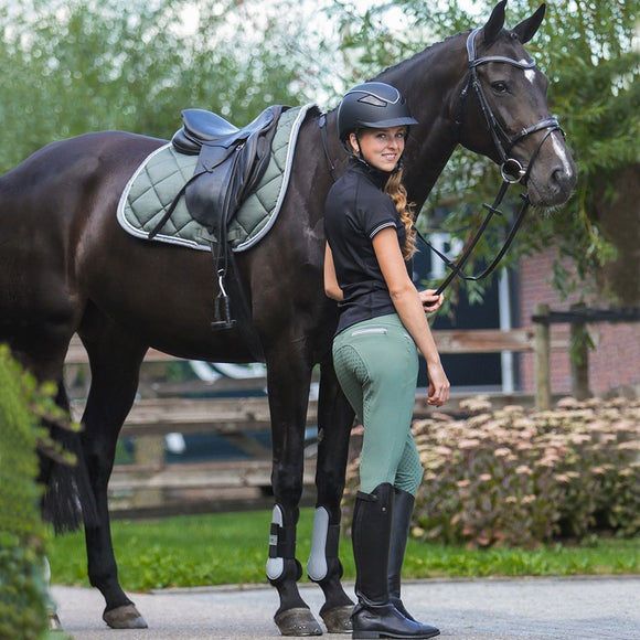 QHP Bliss Anti-Slip Full Seat Breech,  Olive Green
