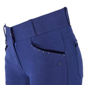 QHP Vajen Anti-Slip Full Seat Breech,  Indigo
