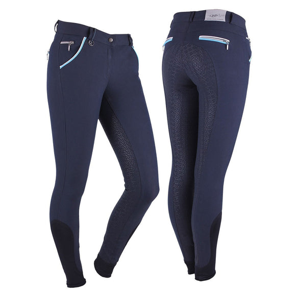 QHP Jacklyn Anti-Slip Full Seat Breech,  Navy