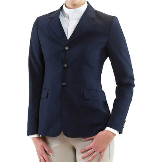 R.J. Classics Hailey Girls Stretch Show Coat, Navy
