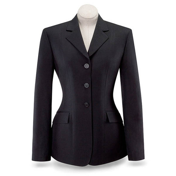 R.J. Classics Devon Herringbone Show Coat, Black