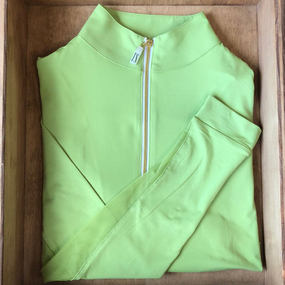 IceFil Zip Shirt,  Avocado with Gold Zip