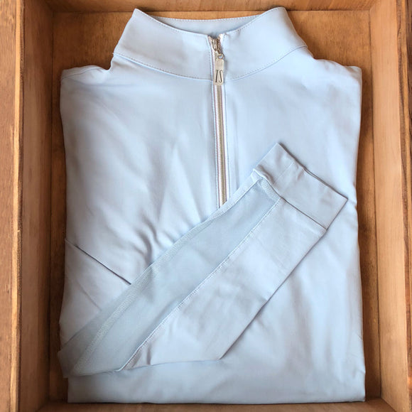 IceFil® Zip Shirt,  Hazy Blue/Silver