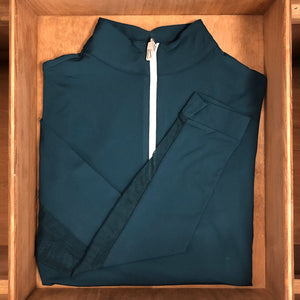 IceFil Zip Shirt,  Dark Teal with White Zip