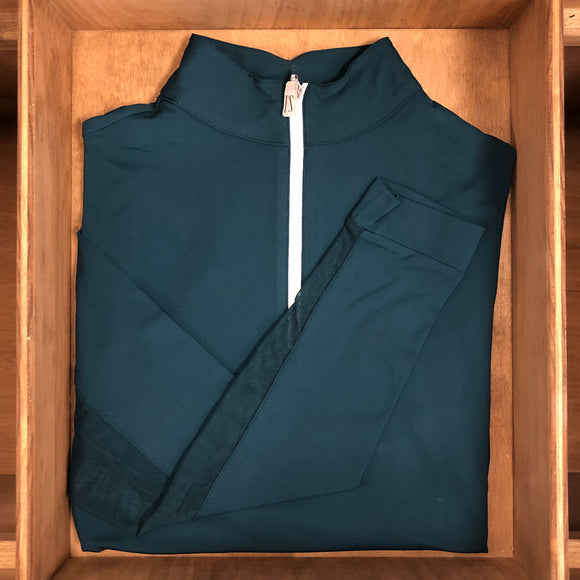 IceFil® Zip Shirt,  Dark Teal/White