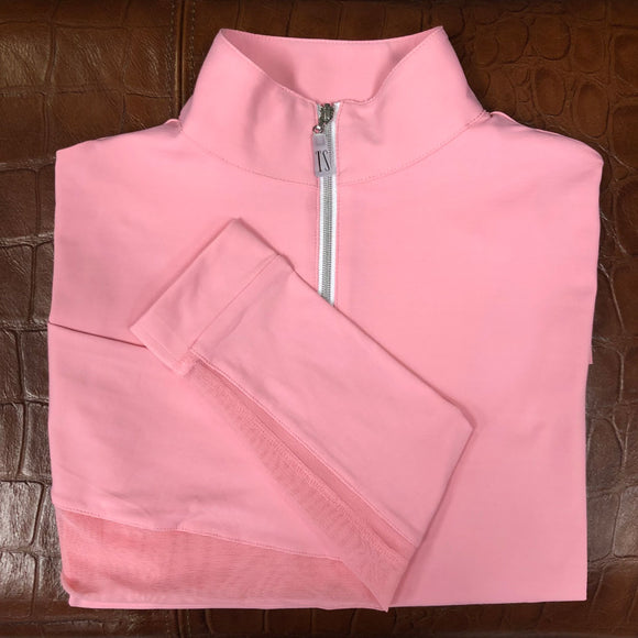 IceFil® Zip Shirt,  Flamingo with Silver Zip