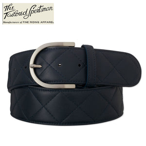 Tailored Sportsman Quilted C Belt,  Navy