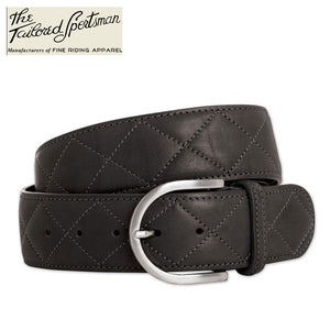 Tailored Sportsman Quilted C Belt,  Black