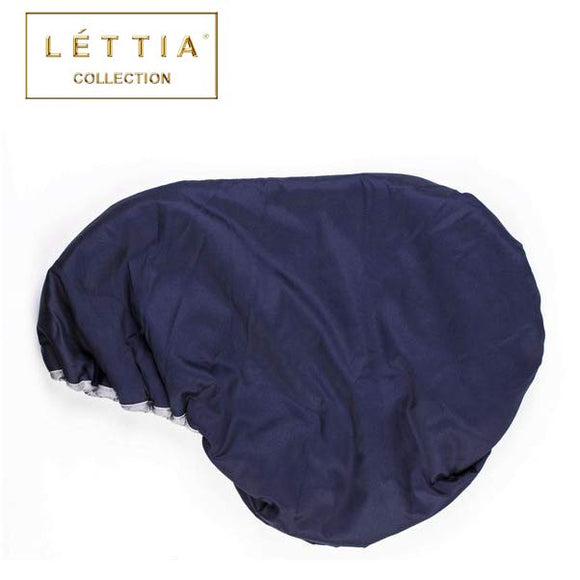 LETTIA Fleece Lined Dressage Saddle Cover, Navy/Grey