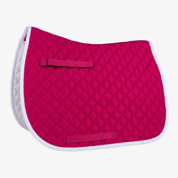 Union Hill Pony Saddle Pad,  Pink with White Trim