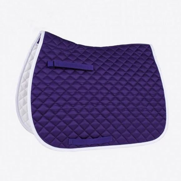 Union Hill All Purpose Saddle Pad, Purple & White