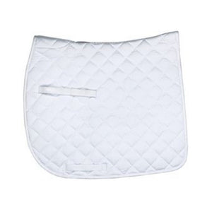 Union Hill Pony Saddle Pad,  White with White Trim