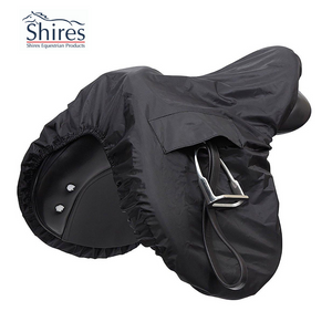 Shires Waterproof  Ride On Saddle Cover,  Black