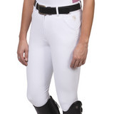 Romfh® Sarafina Bling Full Grip Breeches,  White