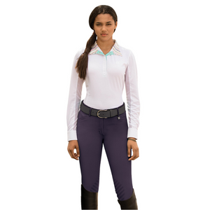 Romfh Sarafina Euro Grip Breeches Knee Patch Breeches,  Crushed Grape