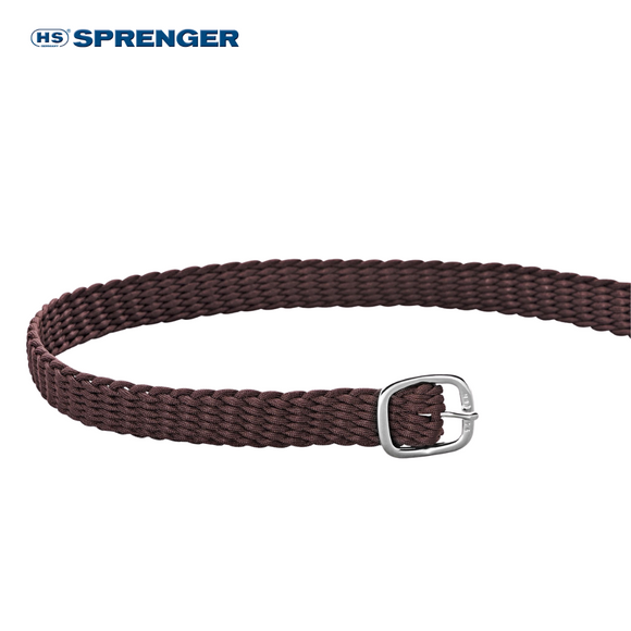 Herm Sprenger Brown Braided Spur Straps