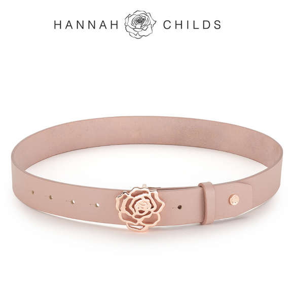 Hannah Childs Signature Rose Belt,  Dusted Rose