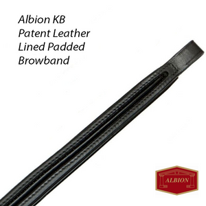 Albion KB Padded Patent Lined Browband
