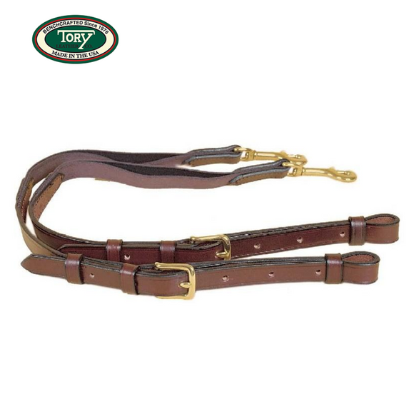Tory Pony Leather Side Reins with Elastic