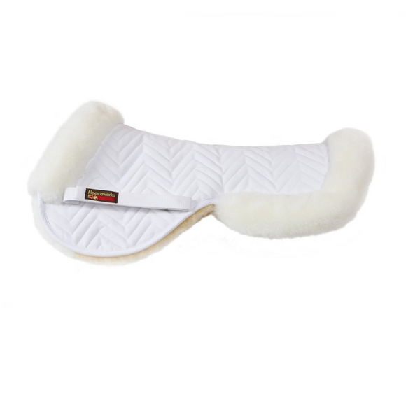 Fleeceworks Sheepskin Classic Halfpad with Rolled Edges