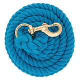 10' Solid Color Cotton Lead Rope with Snap
