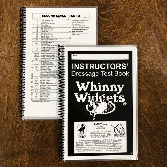 Whinny Widgets 2019 Instructors' Test Book