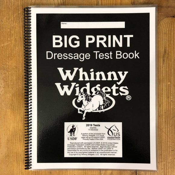 Whinny Widgets BIG PRINT 2019 Test Book