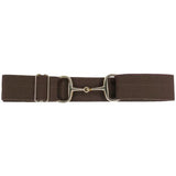 "Ellany 1.5"" Brown, Gold Snaffle Buckle Belt"