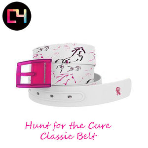 C4 Hunt for The Cure Belt with Hot Pink Buckle