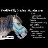 ThinLine Flexible Filly Slow Feed Grazing Muzzle,  2.5 cm Opening