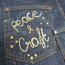 Load image into Gallery viewer, Upcycled Denim Craft Apron: #peaceandcraft Workshop Project 2020