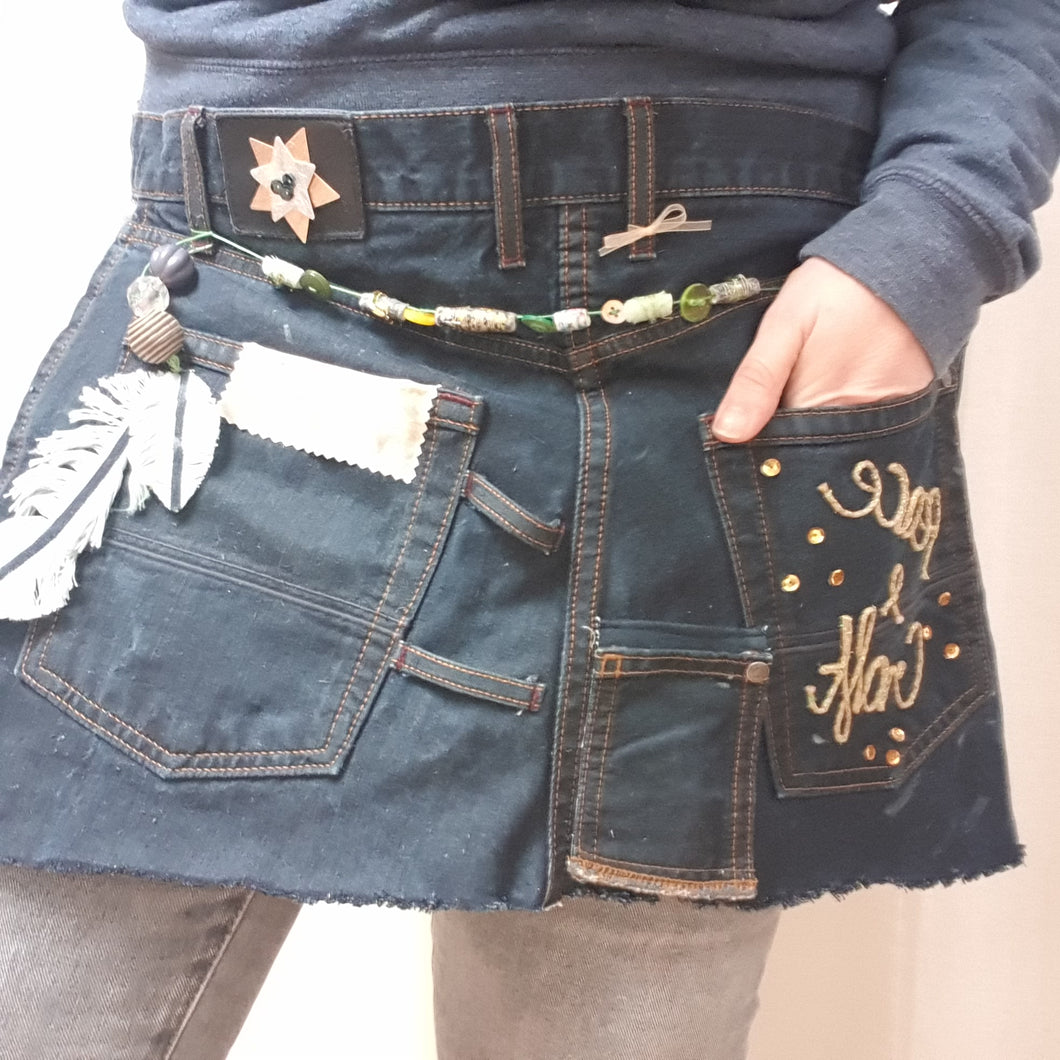Upcycled Denim Craft Apron: #peaceandcraft Workshop Project 2020