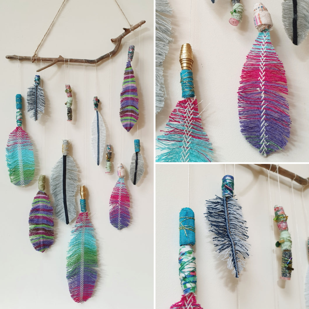 Feathers & Beads Mobile: #peaceandcraft Workshop Project 2020
