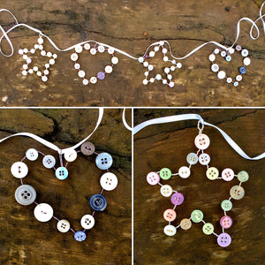 Button Hearts & Stars Mini Craft Kit
