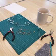 Load image into Gallery viewer, Introduction to Wire Writing: #peaceandcraft Workshop Project 2020