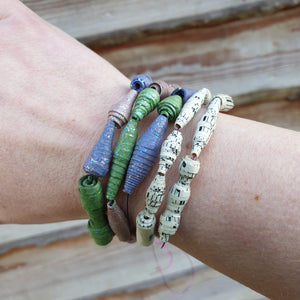 Handmade paper & fabric beads: #peaceandcraft Workshop Project 2020