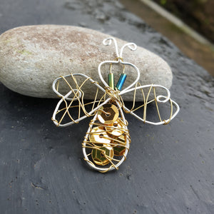 Wire Beaded Insects: #peaceandcraft Workshop Project 2020