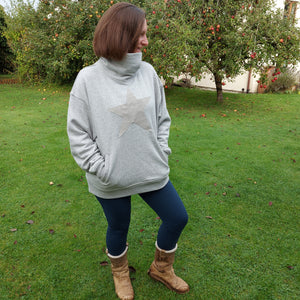 The Floss SLOUCHY FUNNEL NECK SWEATSHIRT