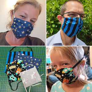 Make your own face-coverings (x2) KITS and/or WORKALONGS