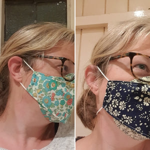 Face Masks - fog-minimising box style for glasses wearers  - Limited Editions