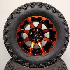12in. Off Road 23x10.5x12 on HD6 Orange Wheel - Set of 4