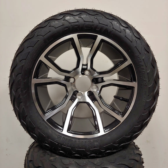 14in. LIGHTNING Off Road 23x10x14 on Excalibur Black Silver Wheel - Set of 4