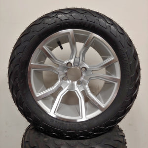 14in. LIGHTNING Off Road 23x10x14 on Excalibur Silver Wheel - Set of 4