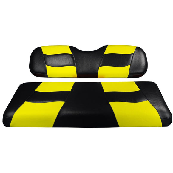 Genuine Madjax Premium Riptide Seat Cover Set - Black/Yellow