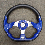 Blue Custom Racer Golf Cart Steering Wheel with Adapter