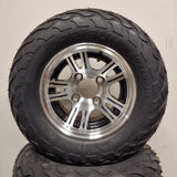 10in. LIGHTNING Off Road 20X10X10 on Excalibur Black/Silver Wheel - Set of 4