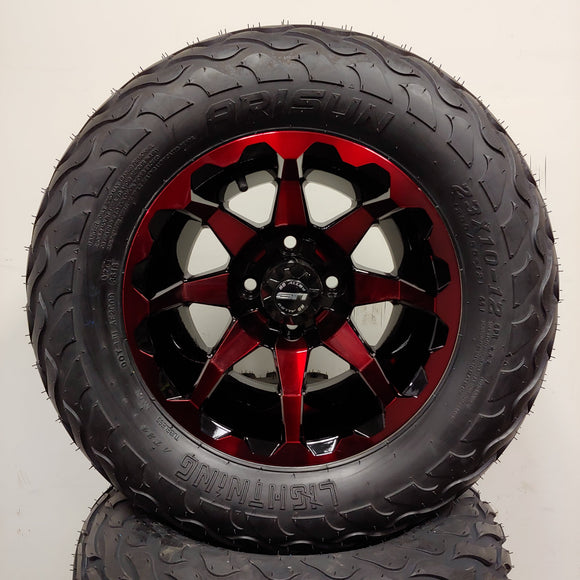 12in. LIGHTNING Off Road 23x10x12 on HD6 Red Wheel - Set of 4